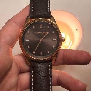 Michael Kors Watch Genuine Leather